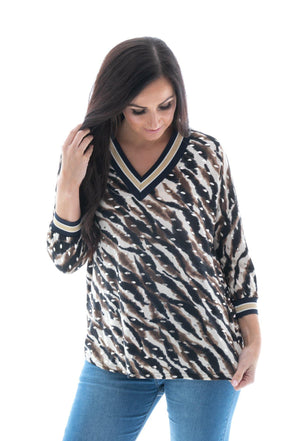 Adie Abstract V-Neck