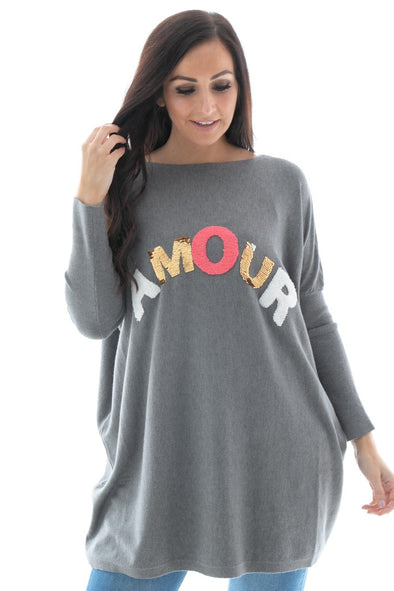 Sequin Amour Love Sweater