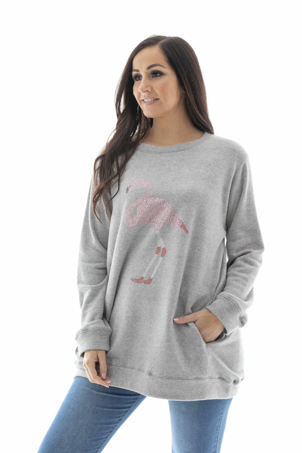 Flamingo Sparkle Sweatshirt