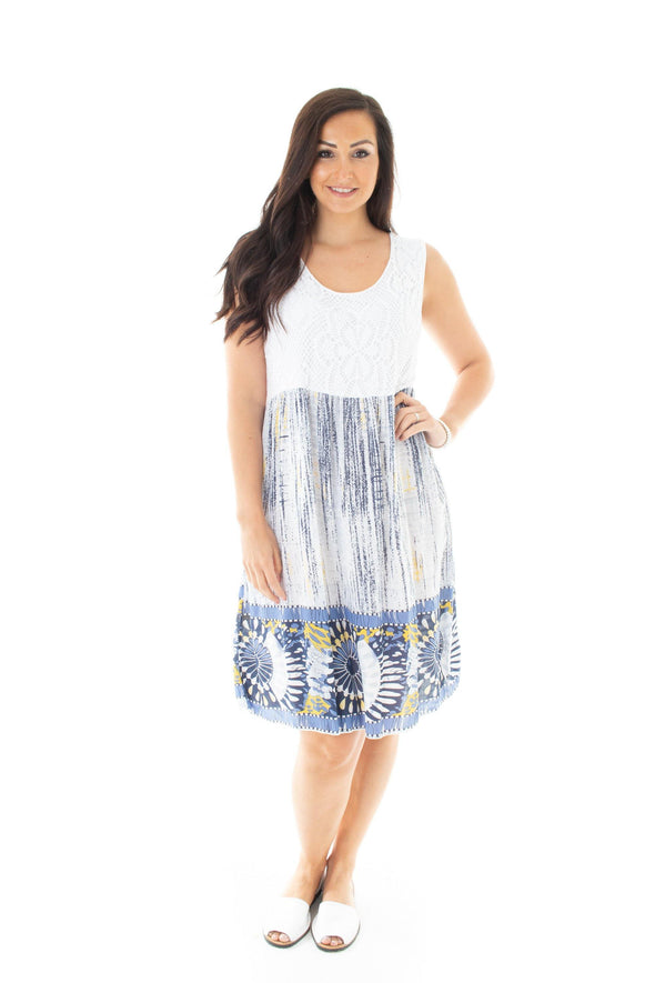 Kady Printed Tunic - Tilletts Clothing (2526515232881)