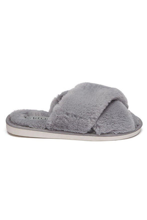 Criss-Cross Slipper Grey Lottie