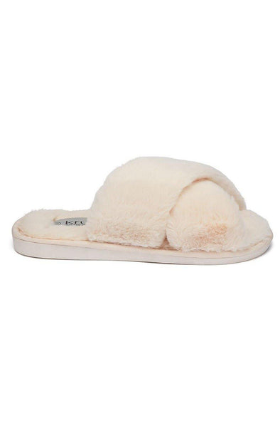 Criss-Cross Slipper Cream Lottie
