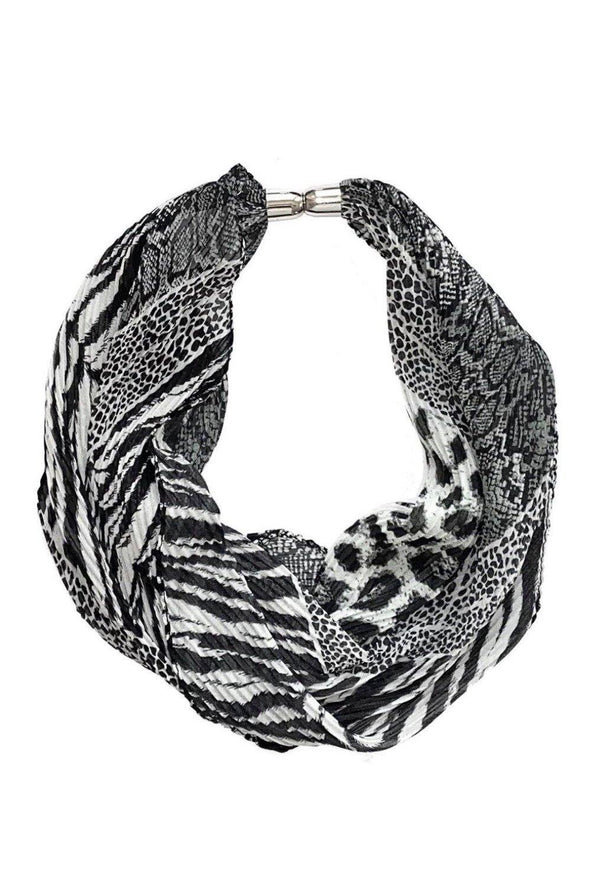 Magnetic Scarf Necklace Grey