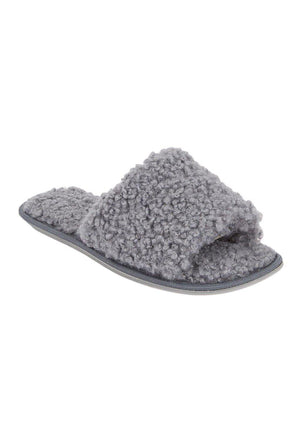 Teddy Slider Slipper Grey