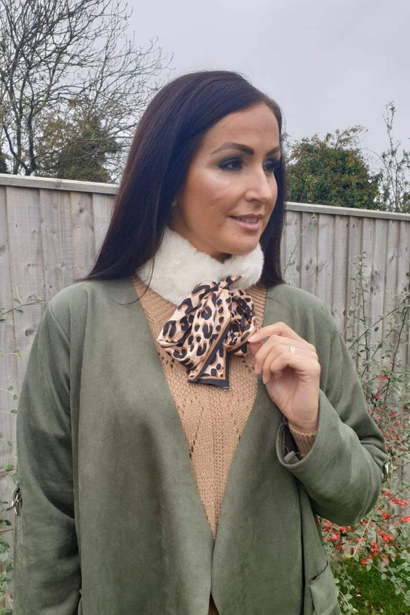 Faux Fur Collar Scarf Willow