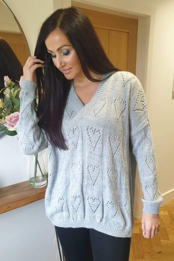 Love Heart Knitted Jumper Lola