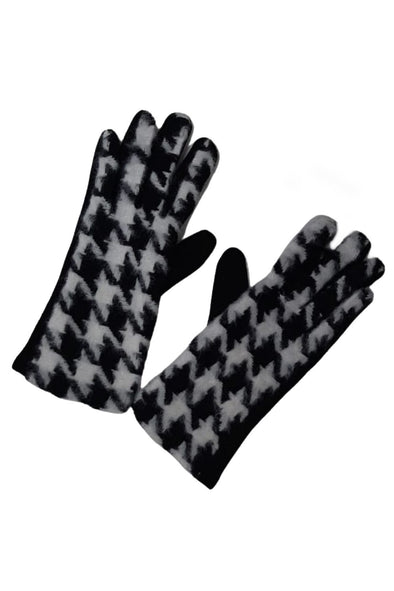 Dogtooth Print Gloves