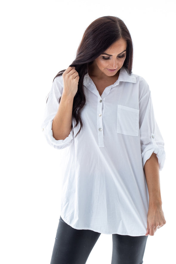 Rowan White Shirt - Tilletts Clothing (4257102987377)