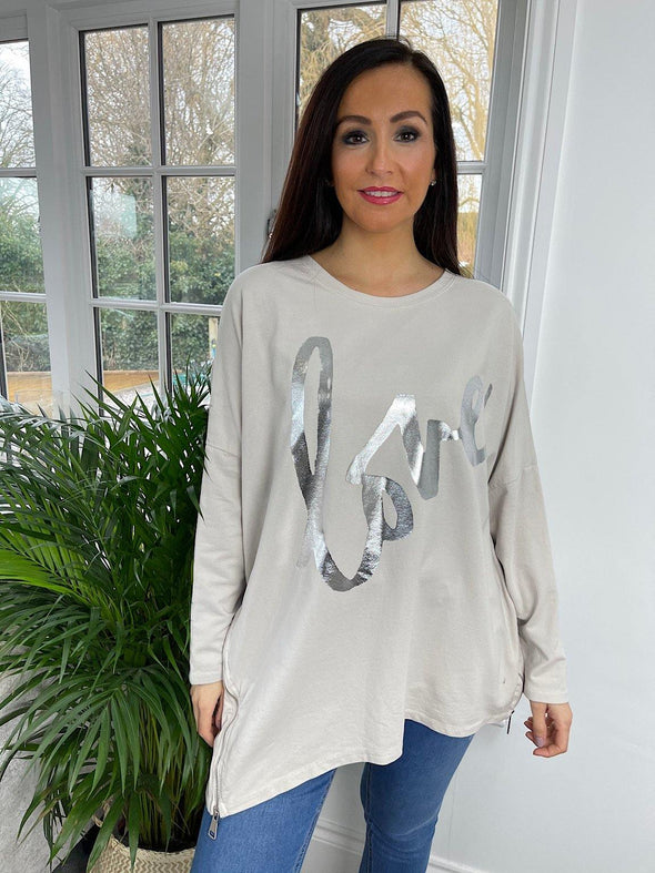 Metallic Love Top Mandy