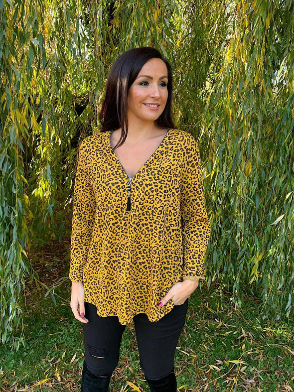 Leopard Zip Top Jennifer