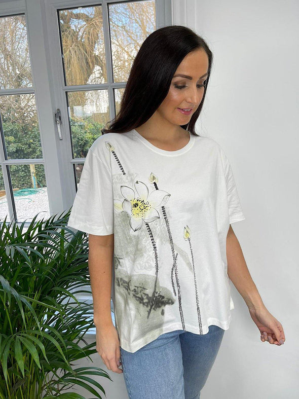 Flower Graphic Top Florina