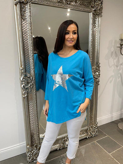 Distressed Star Top Danielle