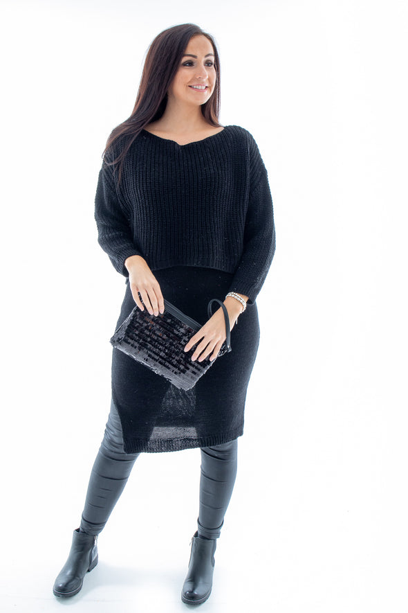 Madge Long Layered Tunic - Tilletts Clothing (4097758396529)