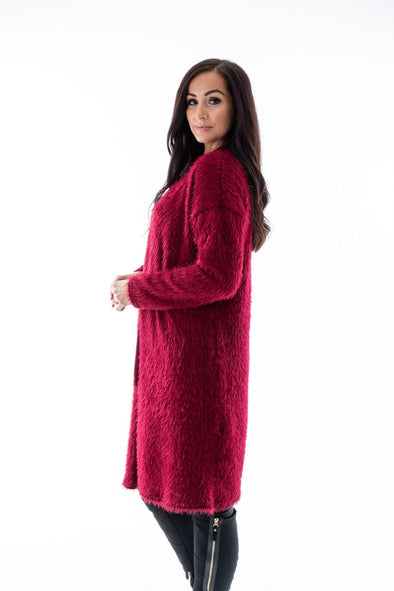 Adelaide Fluffy Cardigan - Tilletts Clothing (4257229340785)