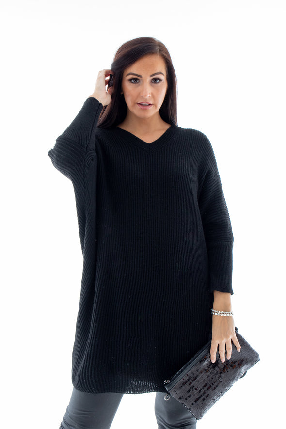 Vonny V-Neck Jumper - Tilletts Clothing (4255956893809)