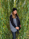 Dogtooth Quilted Gilet Jas