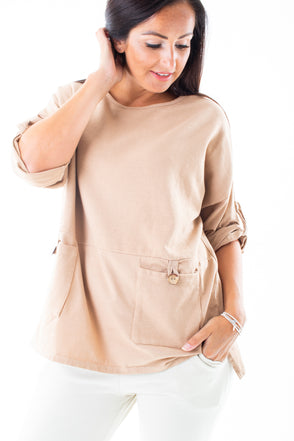 Brandy Basic Button Top