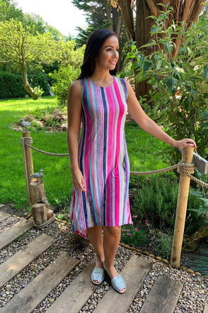 Rainbow Stripe Leah Dress