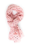Pink Metallic Mini Star Scarf