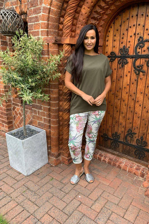 Tropical Floral Cargo Trousers