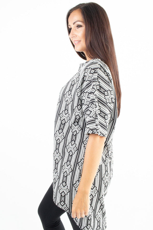 Anya Aztec Top - Tilletts Clothing (4048853893233)