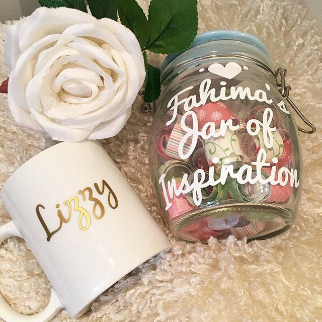 Personalised Inspiration Jar