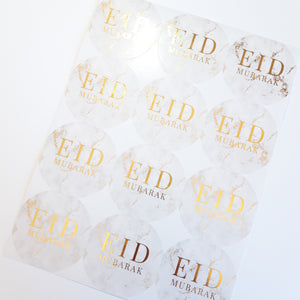 Gold foil stickers + 10 Pouches