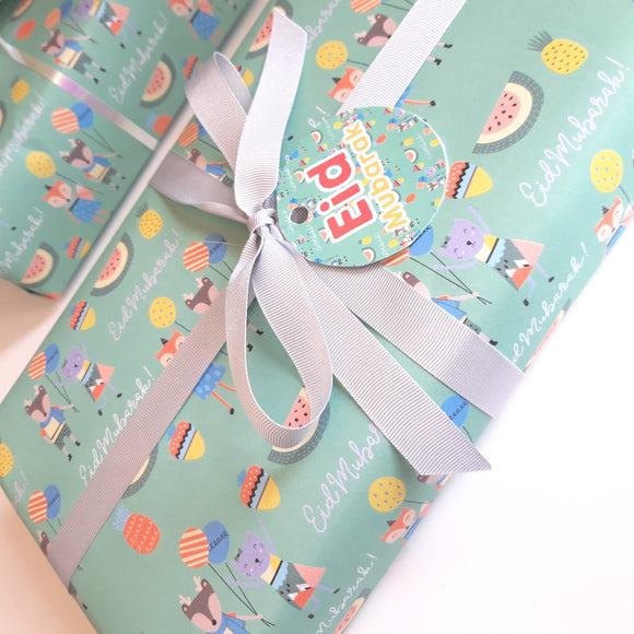 2 Pack - Eid Wrapping Paper + Stickers