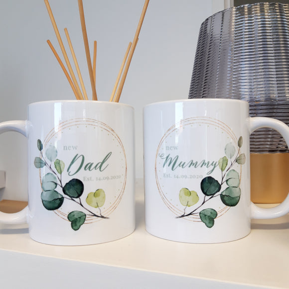 New Mum & Dad Mug set