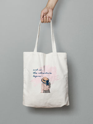 Tote bag - Adventure Quote