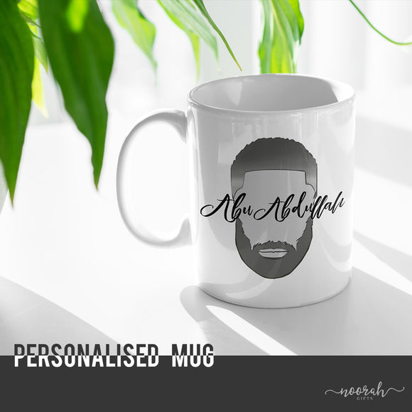 Bearded Mug - Personalised - Afro Version