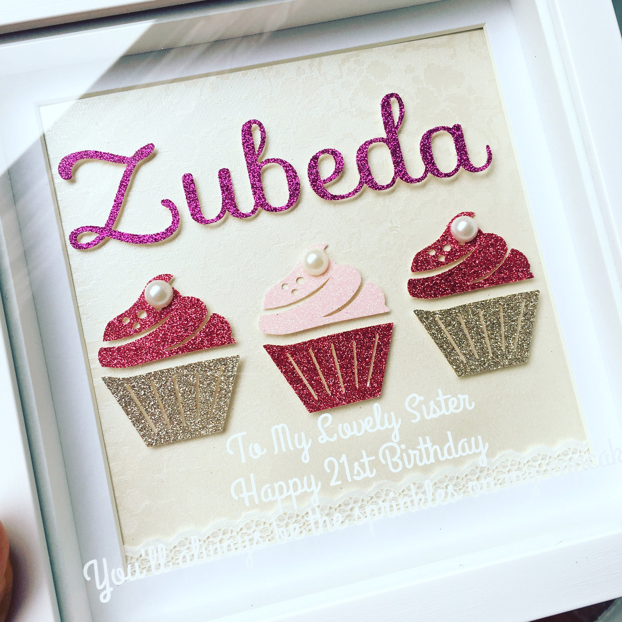 Personalized Cupcake Frame