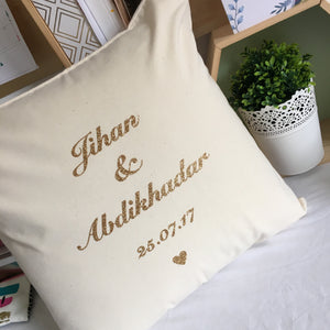 Personalised Cushion-Cream