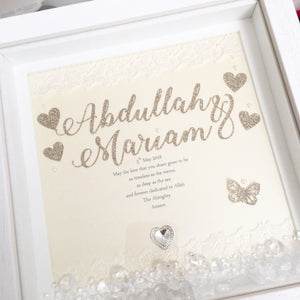 Timeless Wedding Frame + Crystals