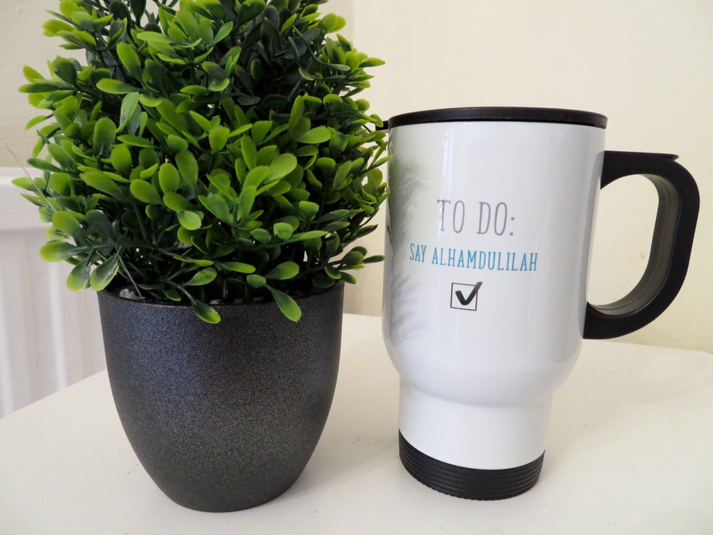 Alhamdulilah - Stainless Steel White Travel Mug