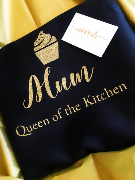 Personalised Glitter Apron