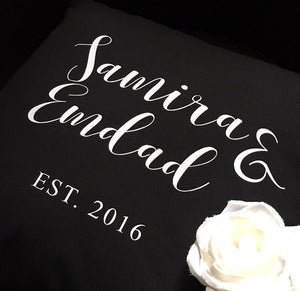 Personalised Cushion -Black
