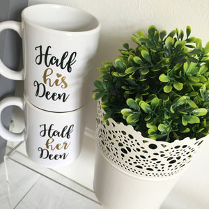 New Half His and Her Deen Mug Set