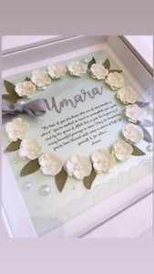Floral Wreath Frame - Mint Green