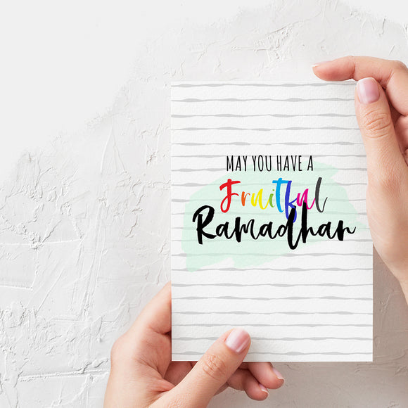 Fruitful Ramadhan Card