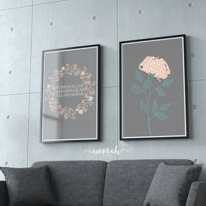 Dhikr floral prints - Set of 2