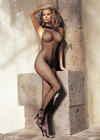 90001 Fishnet Halter Body Stocking