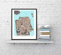 Maps As Art San Francisco map print