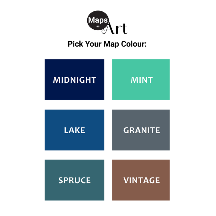Maps As Art map print colours.