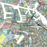 Amsterdam, the Netherlands map art print close-up in colorful shapes from Maps As Art.