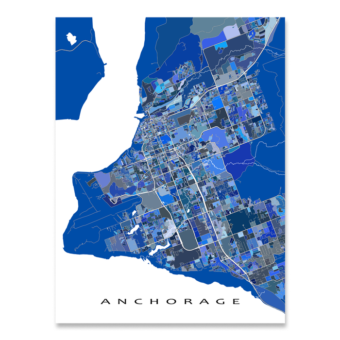 Anchorage Map Print, Alaska, USA
