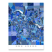 Ann Arbor, Michigan map art print in blue shapes from Maps As Art.