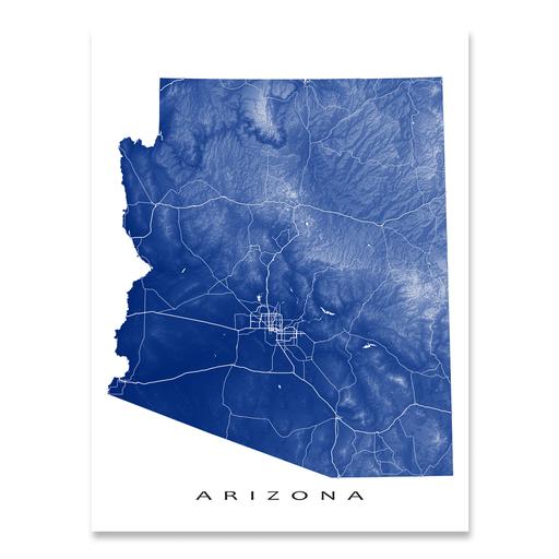 Arizona Map Print, USA State, AZ