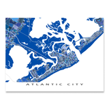 Atlantic City Map Print, New Jersey, USA