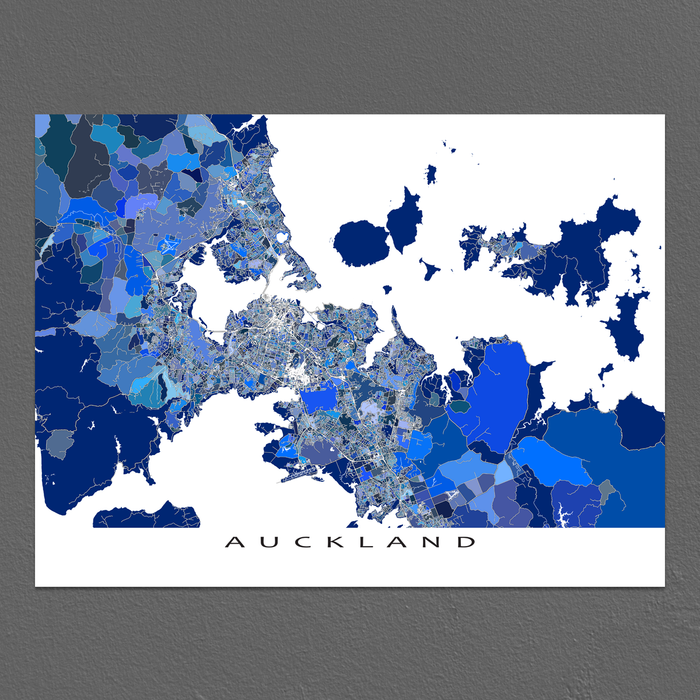 Auckland Map Print, New Zealand